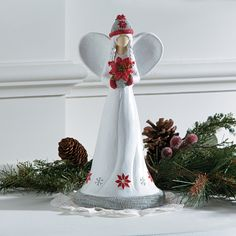 Winter Angel Figurine - TerrysVillage.com