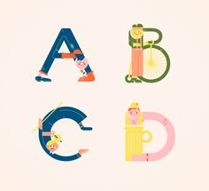 Illustrated Alphabets - Typography Art by Vesa Sammalisto - What an ART