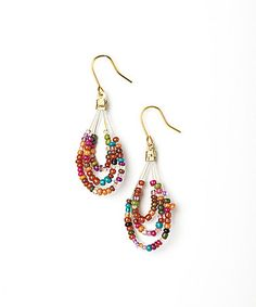 Look at this #zulilyfind! Red & Green Beaded Triple Teardrop Earrings by Kada Jewelry #zulilyfinds