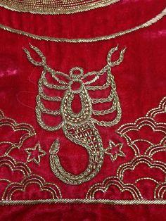 Zardozi mermaid embroidery