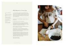 How beautiful is Kinfolk's first cookbook, The Kinfolk Table: Recipes for Small Gatherings? If you don't know the magazine, Kinfolk comes out quarterly… The Kinfolk Table, Exhibition Models, Sample Recipe, Kinfolk Magazine, Cosy Christmas, Blueberry Jam, Wild Blueberries, Cookery Books, Bakken
