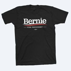 The political revolution starts here. Black T-shirt union-made and printed in the USA.