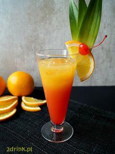 Drinki z tequili robię rzadko, ale ten jest jednym z moich ulubionych. Głównie… Bar Drinks, Drink Bar, Tequila Sunrise, Food And Drink, Cocktails, Smoothie, Tableware, Desserts, Drink Recipes