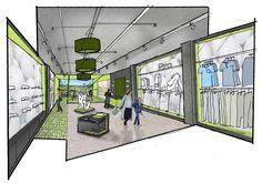 retail design concepts sketches - Google Search