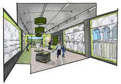 retail design concepts sketches - Google Search