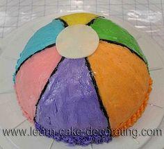 Beki Cooks Cake Blog Easy Beach Ball Cake Little Boy Birthday