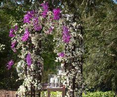mur-végétal-arc-jardin-fleurs-grimpantes mur végétal