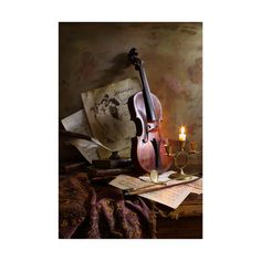 Trademark Global Andrey Morozov Still Life with Violin Canvas Art - 20 Still Life Photography, Photography Ideas, Furniture For Small Spaces, Artist Canvas, Online Art Gallery, Violin, Canvas Art Prints, Wrapped Canvas, Art Pieces