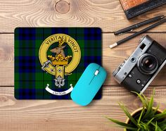 Rubber mousemat with Keith clan crest and tartan - only from ScotClans