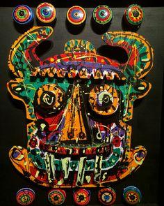 Retablo de juguetes mexicanos de todos los tiempos. (Detalle)  Jazzamoart  ARTE/SANO 4.0 en #MAPmuseo