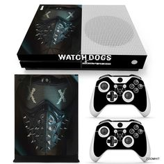 Xbox One S Console Skin Decal Sticker Watch Dogs 2 + Controller Skins Custom Set #ZoomHit