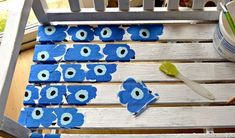 Easy to Make a Marimekko Bench Using Paper Napkins