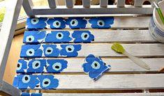 Easy to Make a Marimekko Bench Using Paper Napkins