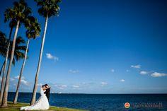 Bride and Groom at Grove Isle Hotel & Spa | Wedding