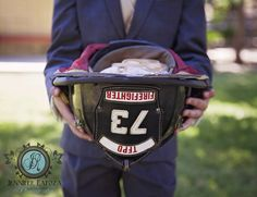 The perfect Ring bearer pillow when the groom is a fire fighter!