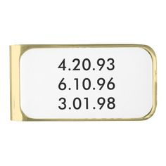 """""""Favorite Dates"""" Money Clip is a great way to celebrate those special dates like weddings, children's birth dates, etc."""