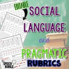 Check out this printable social language and pragmatic rubric that will help ease your workload and save you TIME!  You will love this editable resource for your speech therapy classroom. #SLP #SPED #specialed #data #tracking #print #TpT