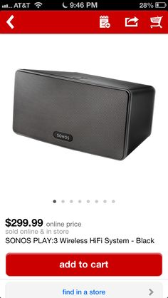 Great Bluetooth speaker from sonos