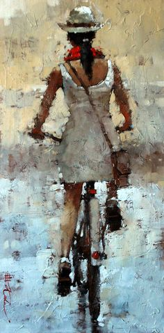 """Into the City, Series #2, 24"""" x 12"""" Oil by Andre Kohn  http://www.andrekohnfineart.com/"""