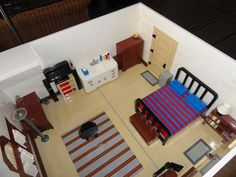 Lego Model of My Room: A LEGO® creation by LEGO 2x4 : MOCpages.com