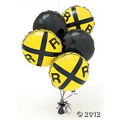 Railroad Crossing Birthday Balloon Set