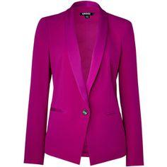 DKNY Jazzberry-Magenta Tuxedo Blazer