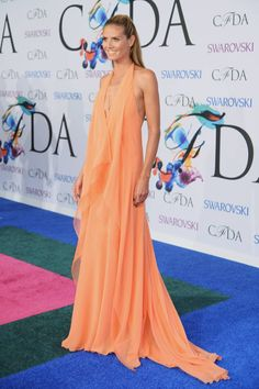 Heidi Klum crucero 2015 de Donna Karan, joyas de Lorraine Schwartz