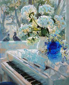 "art-and-dream: "" Art painting wonderful style by Maria Pavlova "" Classic Paintings, Beautiful Paintings, Original Paintings, Art Floral, Painting Still Life, Dream Art, Matisse, Love Art, Cat Art"