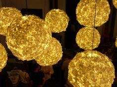 White paper flower pendant light flower lampshade flower and paper flower lamps mightylinksfo Gallery