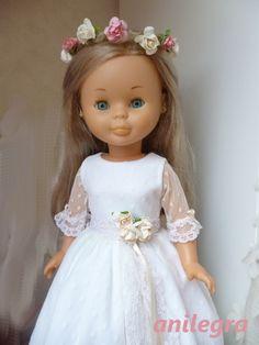 ANILEGRA COSE PARA NANCY: Vestido comunion para muñeca Nancy y similares