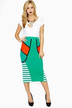 Kansai Midi Skirt #vintage