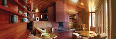 The restored Kraus house in Saint Louis by Frank Lloyd Wright