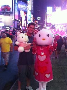 David Freese's pic with Hello Kitty, NYC