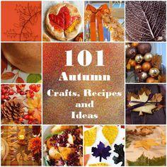 crafts for autumn   Need More Fiber: 101 Autumn Crafts - part 3