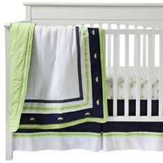 Nantucket 3pc Crib Bedding Set by Bananafish. yep this is what baby boy garza will have soon :)