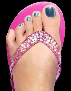 Swarovski Crystal Flip Flop