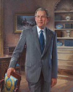 Official White House Portrait of George Walker Bush ~ President of the United States. Presidents Wives, Greatest Presidents, American Presidents, American History, Presidential Portraits, Presidential History, Presidential Trivia, George Bush Family, Laura Bush