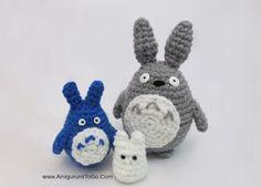Totoro Azul Amigurumi : Amigurumi totoro and soot sprites free crochet pattern and video
