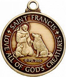 Beautiful St Francis Dog Tag with Poem on Reverse. www.saintfrancismedal.com
