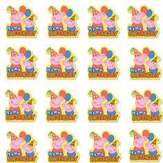 Trendy Chaos - sharing the chaos of motherhood from coast to coast Peppa Pig Birthday Decorations, Peppa Pig Birthday Invitations, Peppa Pig Birthday Cake, Birthday Bash, Birthday Celebration, Bolo Da Peppa Pig, Cumple Peppa Pig, Peppa Pig Printables, Free Printables