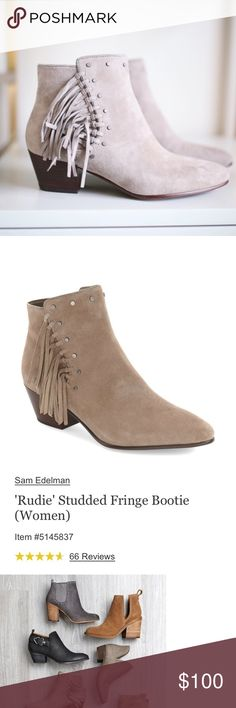 Sam Edelman Bootie NWT the BEST bootie!  Amazing reviews.  Great color for spring & summer.  Pair with shorts or sundresses!! Sam Edelman Shoes Ankle Boots & Booties