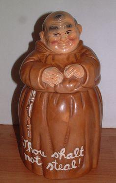 Vintage Twin Winton Monk Friar Cookie Jar Excellent Condition