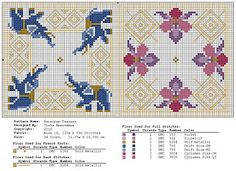 Free biscornu patterns themed by country (blog in Russian)