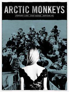 Arctic Monkeys concert poster by Third Alert Designs.