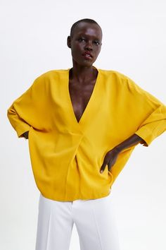 Oversized Blouse, Shirt Blouses, Women's Shirts, Zara United States, Blouses For Women, Bell Sleeve Top, Boho, Female, Woman Shirt