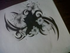 Tribal cover up tattoo design
