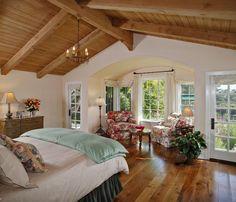 Montecito Guest House - traditional - bedroom - santa barbara - by Jessica Risko Smith Interior Design Dream Bedroom, Home Bedroom, Master Bedroom, Bedroom Ceiling, Pretty Bedroom, Airy Bedroom, Bedroom Photos, Modern Bedroom, Beautiful Bedrooms