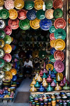 Pottery in Marrakesh, Morocco