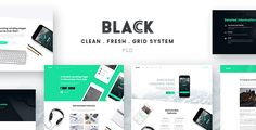 Black - Landing Page PSD Template . Black is an elegant PSD Template for landing page and simple blogging