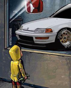 (notitle) - I ♥️ honda - Honda Crx, Honda Civic Hatchback, Civic Sedan, Civic Coupe, Honda Sports Car, Soichiro Honda, Jdm Wallpaper, Car Illustration, Japan Cars